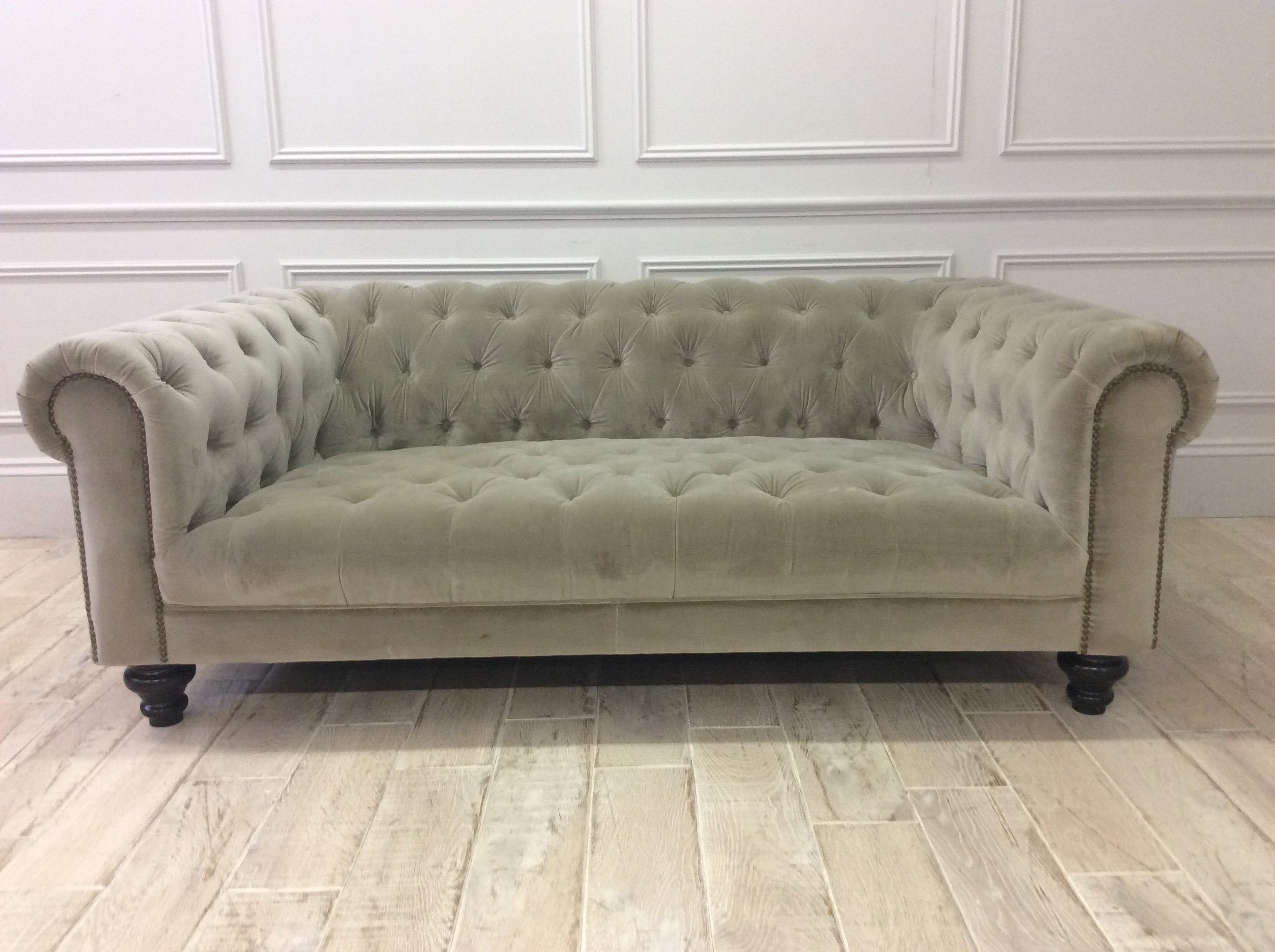 Product photograph showing Arundel Extra Deep Fabric Midi Sofa In Venetian Sable Velvet