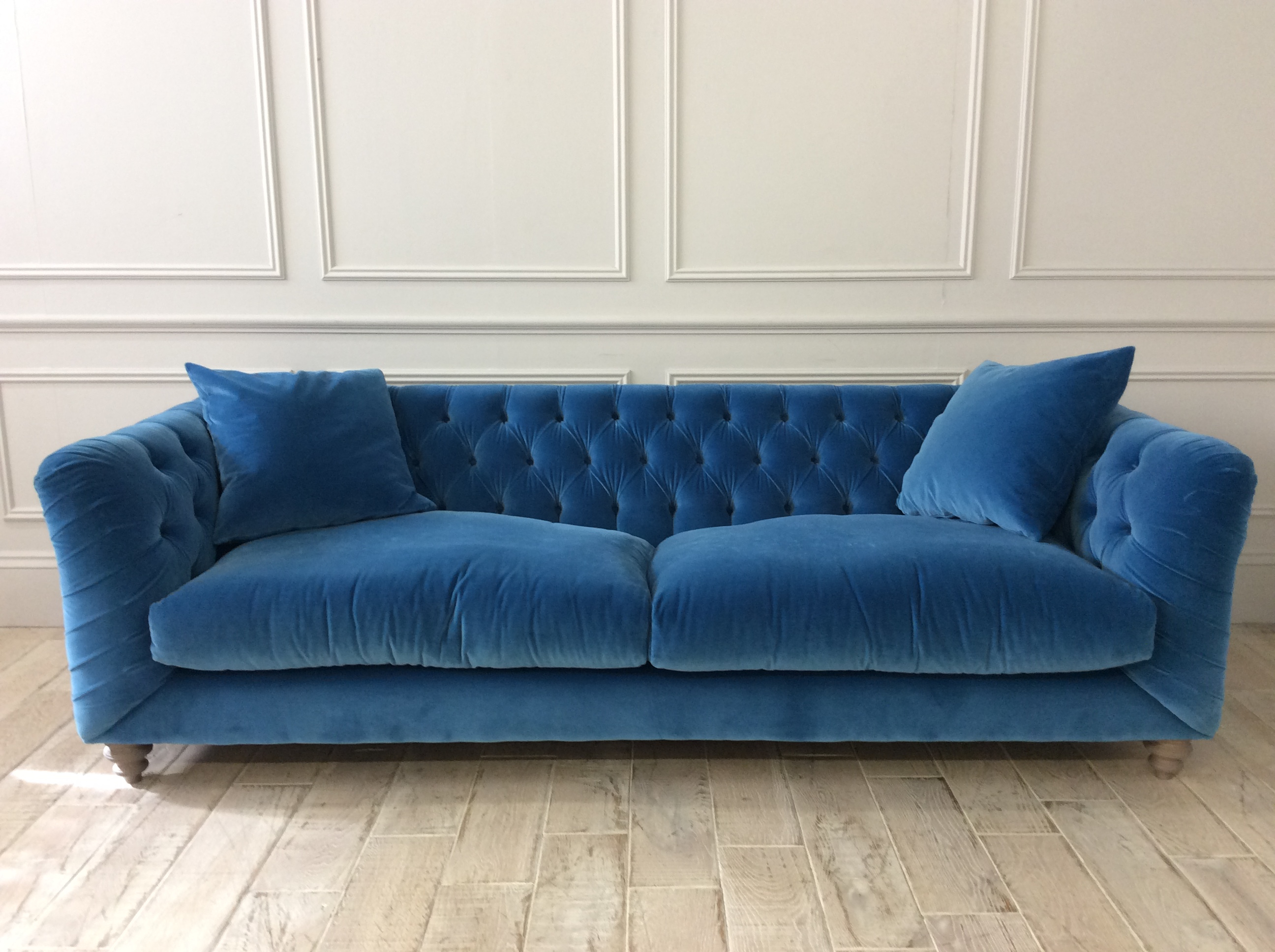 Product photograph showing Dulwich Grand Sofa In Varese Teal