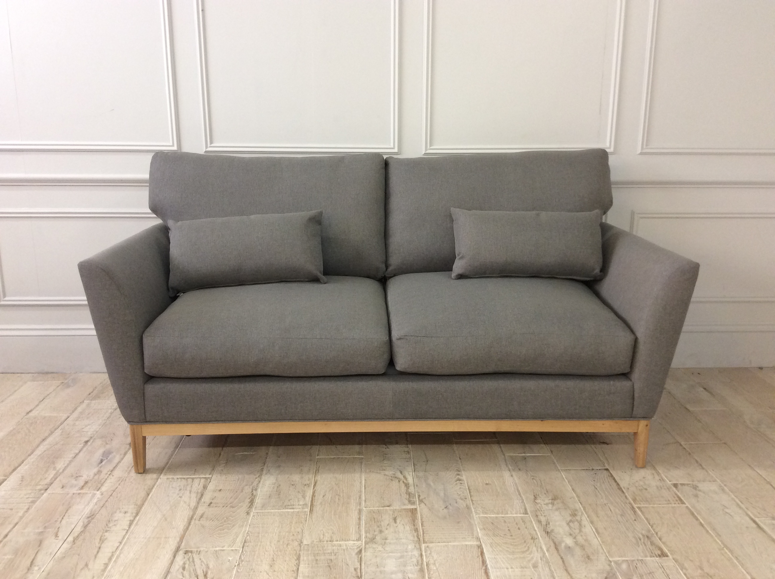 Product photograph showing Willow Sofa Bed In Shearwater Light Grey Fabric
