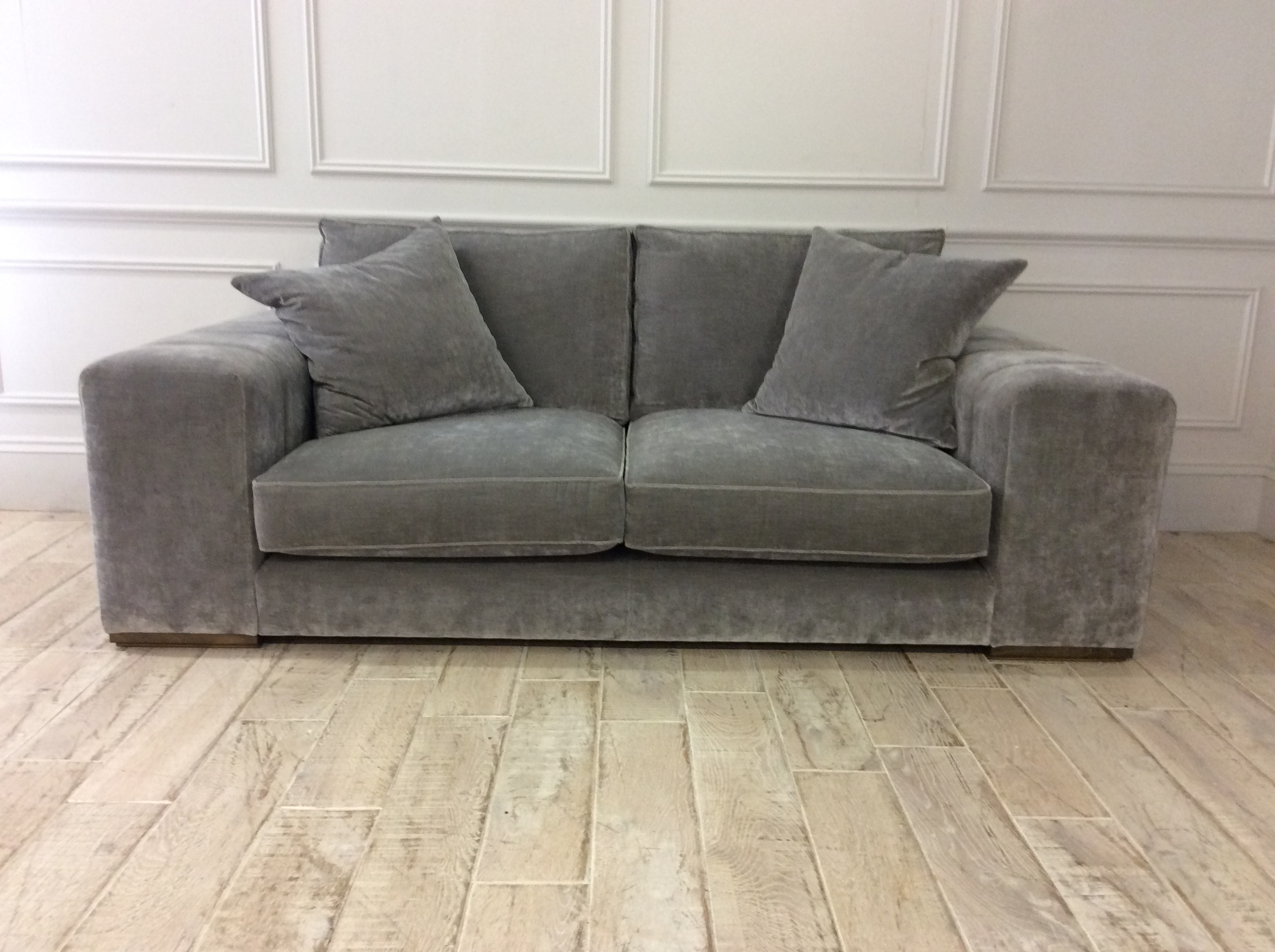 Product photograph showing Epping Medium Sofa In Vintage Chinchilla