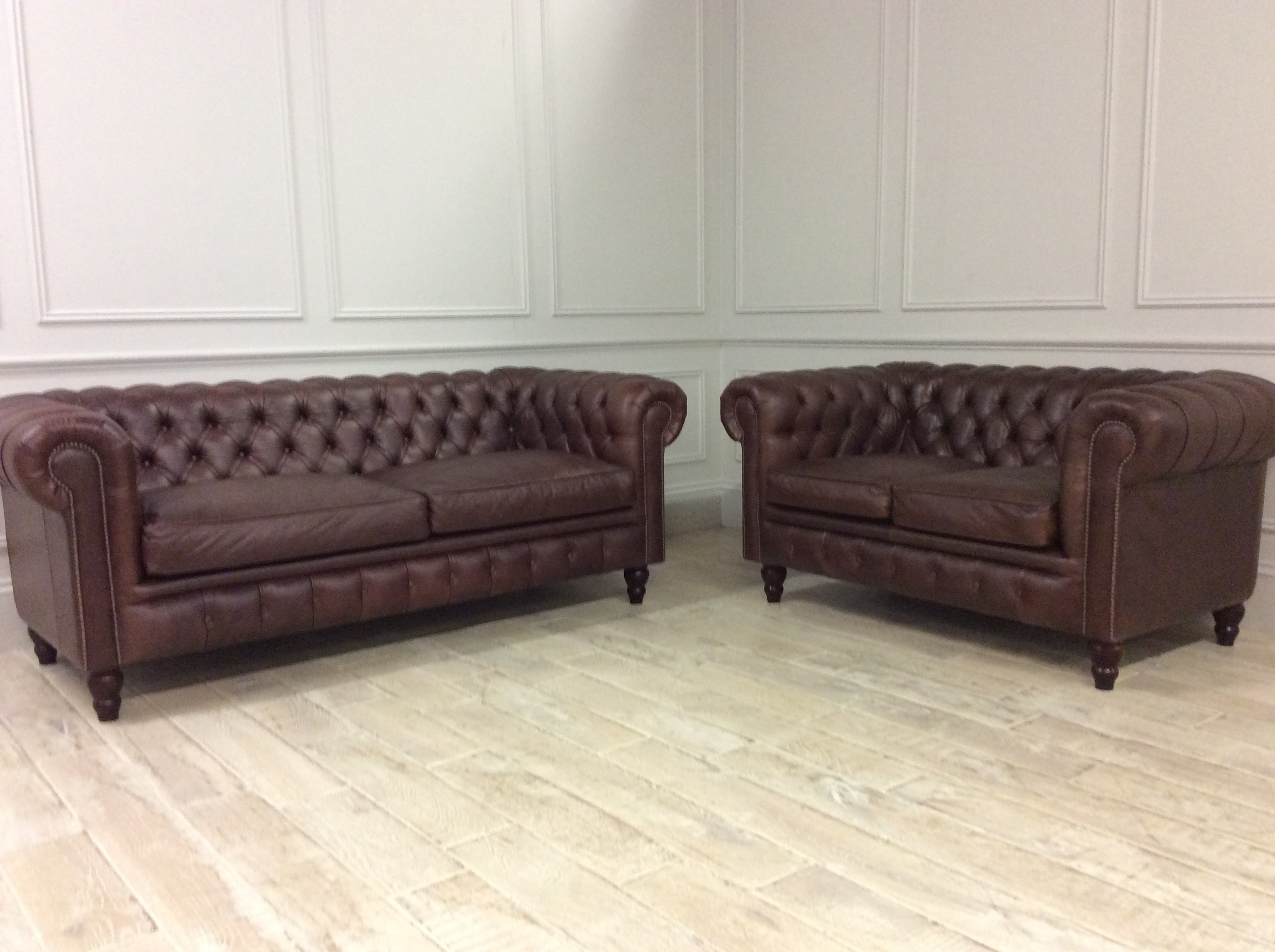 Product photograph showing Harrington 3 2 Seater Sofas In Crystal Hazel
