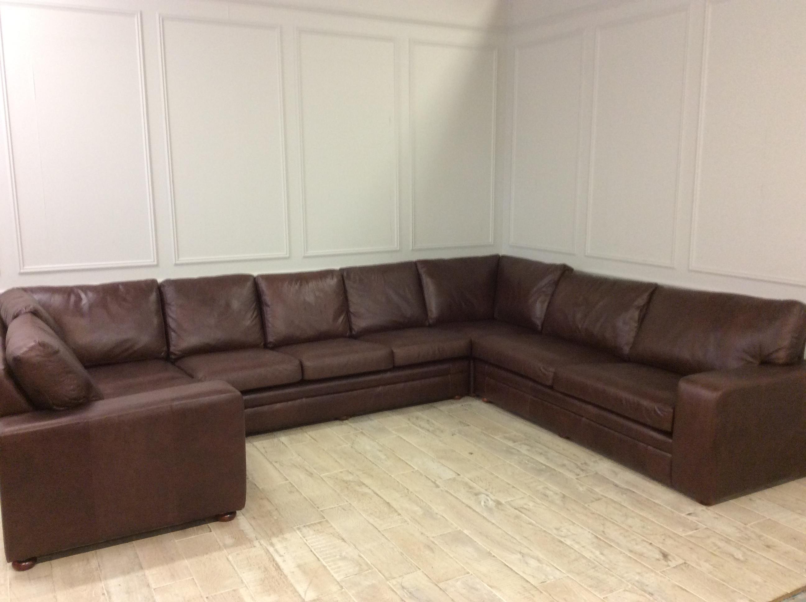 Product photograph showing Large U Shaped Sloane Corner Sofa In Crystal Hazel