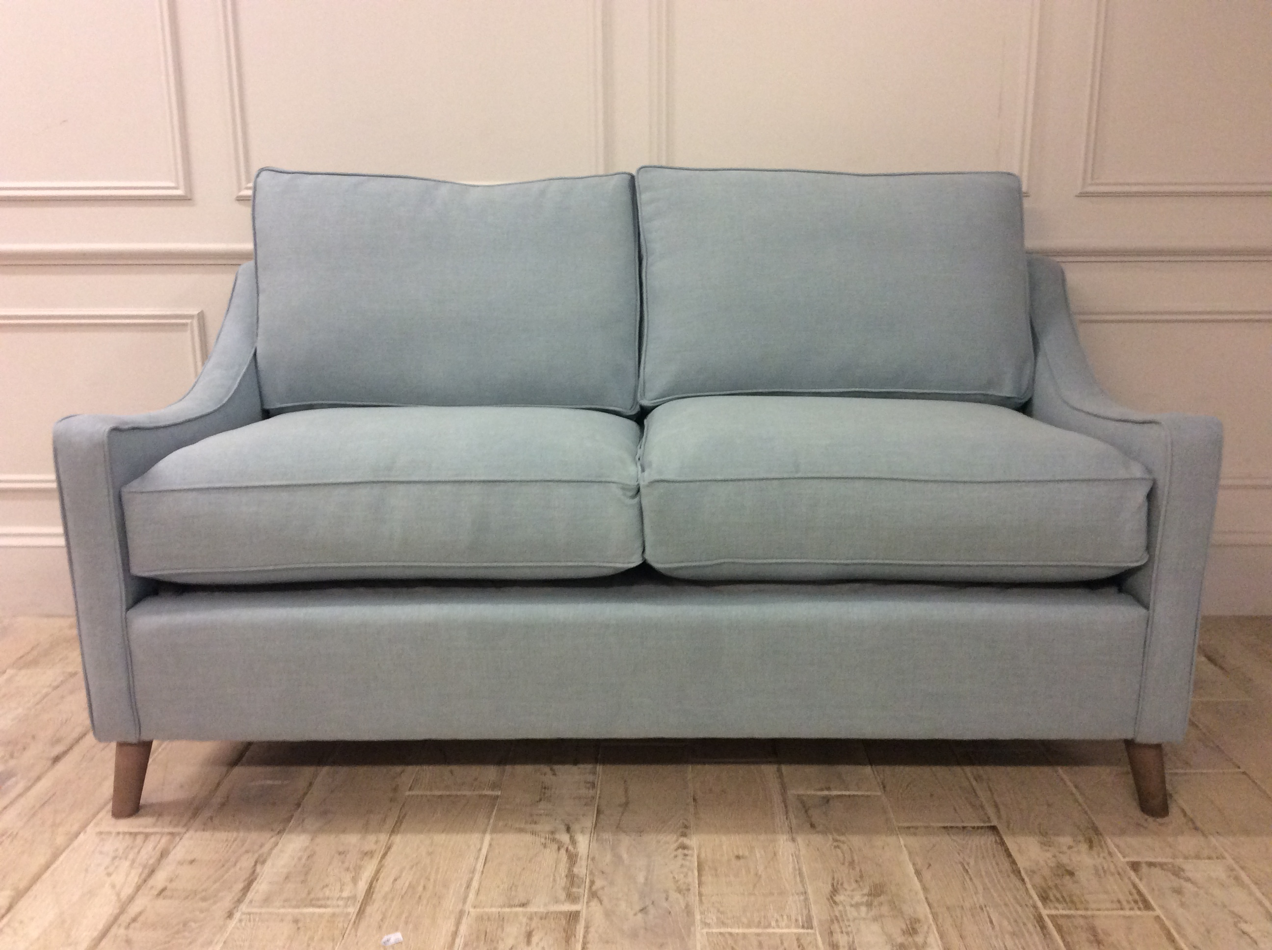 Product photograph showing Weymouth 3 Seater Sofa Bed In Easy Clean Soft As Cotton Powder Blue With Memory Foam Mattress