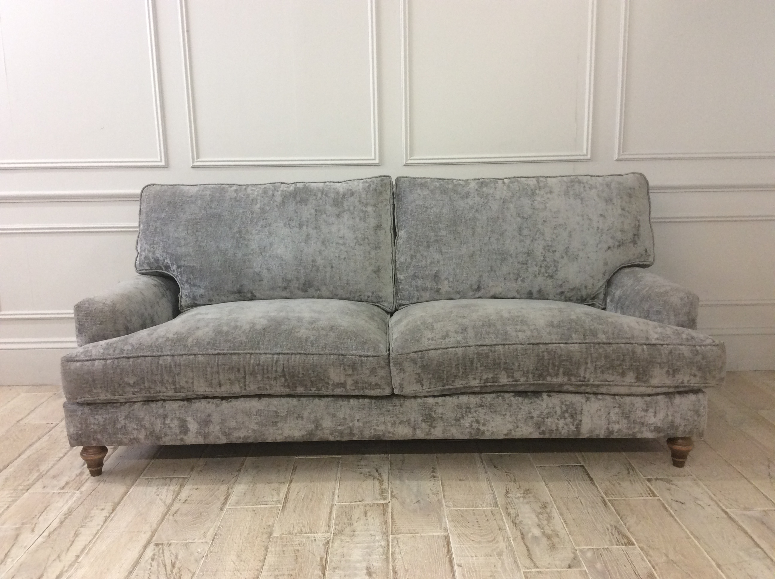 Product photograph showing Whinfell Large Sofa In Traviata French Grey Fabric