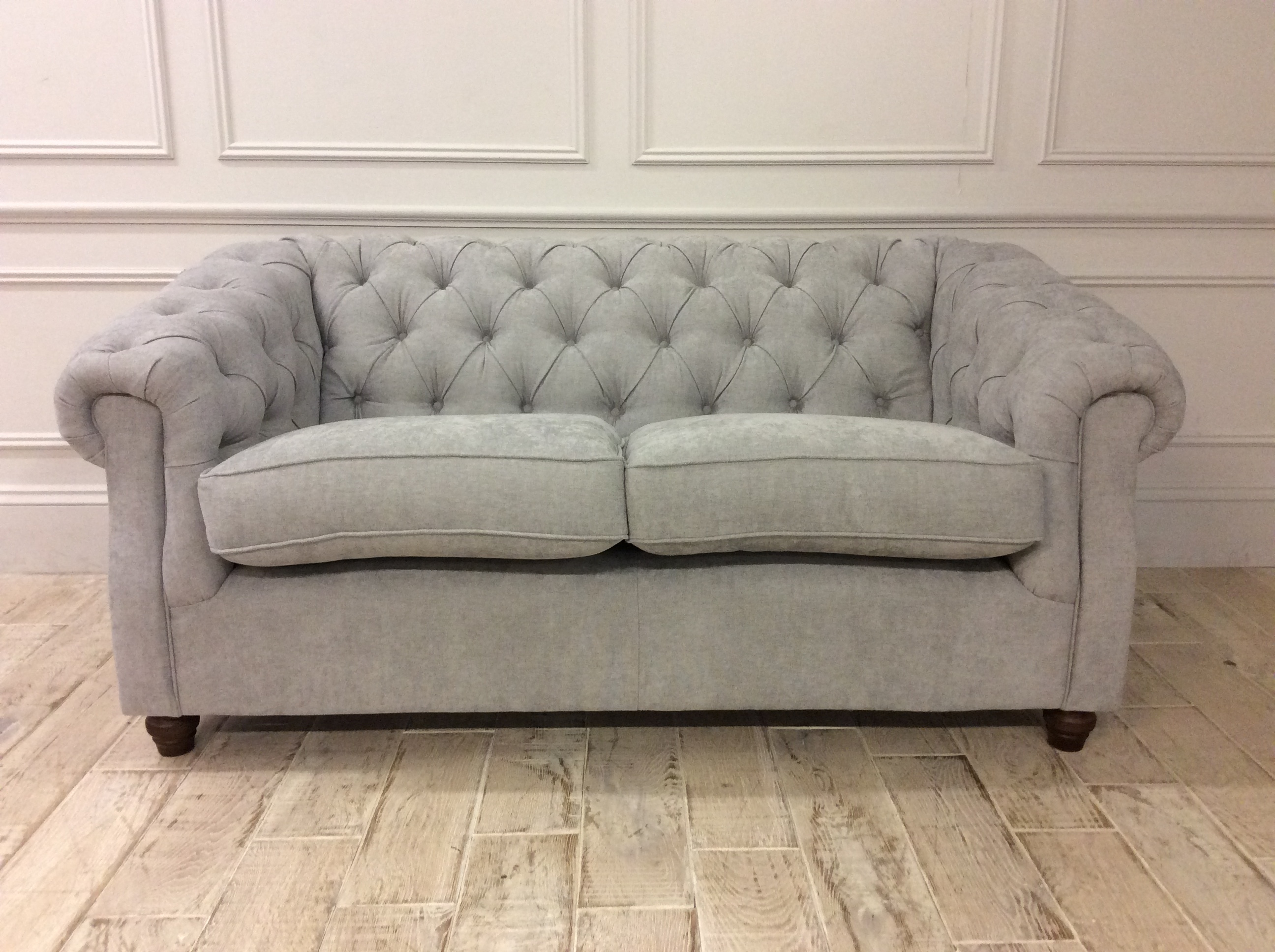Product photograph showing Wantage 2 Seater Sofa In Stain Resistant Chenille Seal Grey