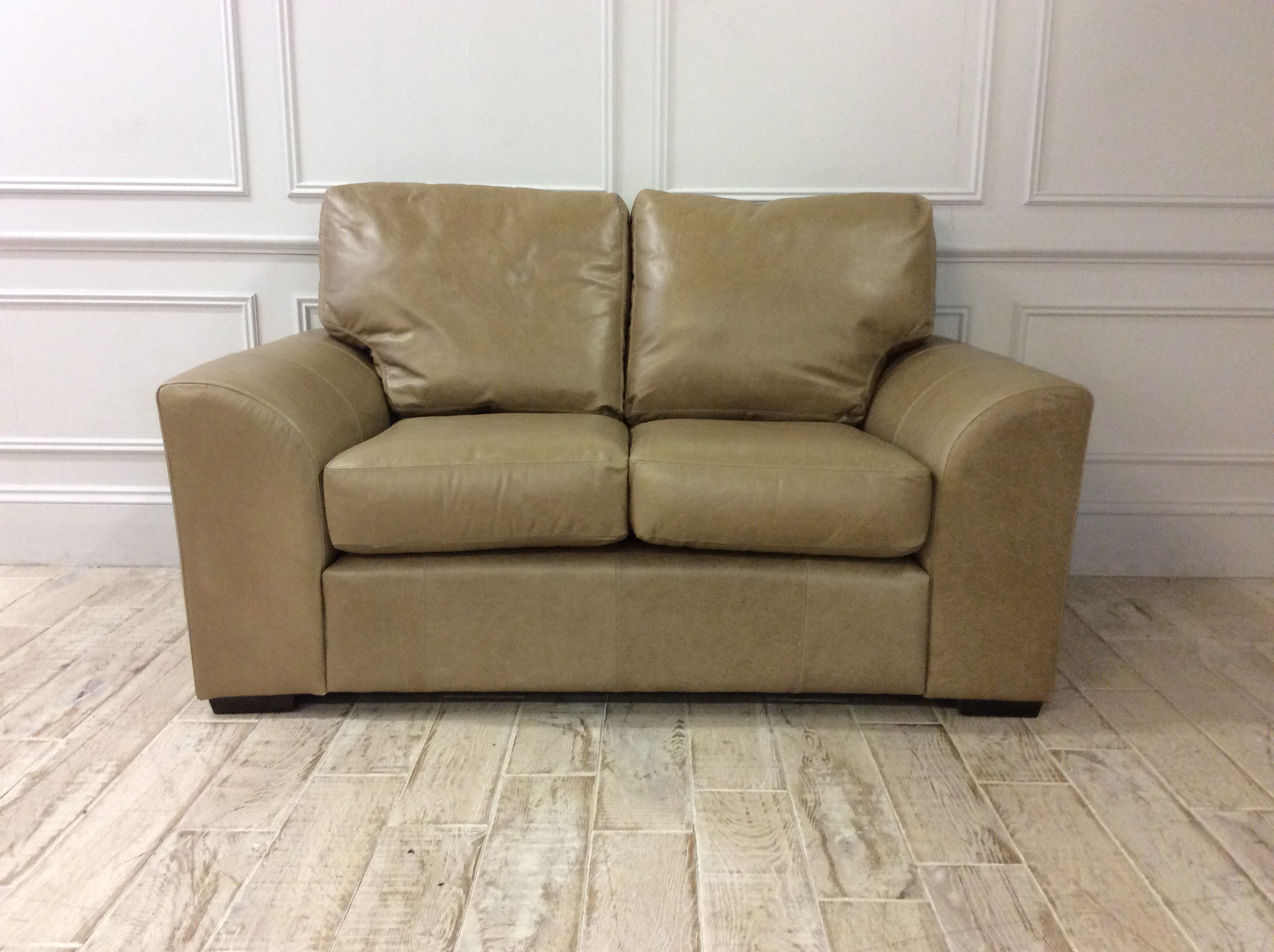 Product photograph showing Eton 2 Seater Sofa In Crystal Parchment