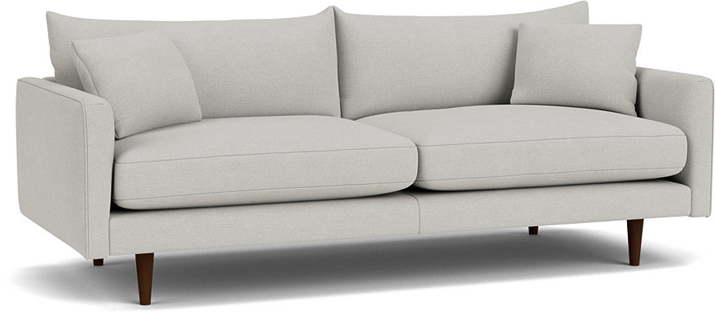 the kelston large sofa in easy clean soft as cotton Cambridge blue with wenge feet