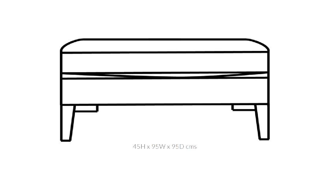 Product photograph showing Domus Soho Large Footstool