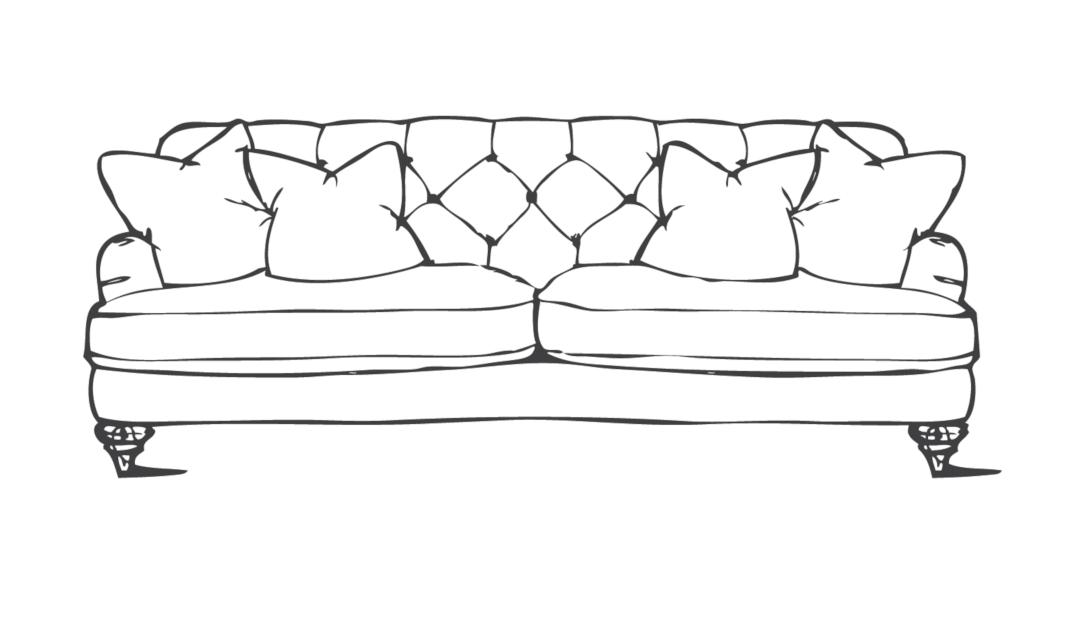 Product photograph showing Woodbridge Large Sofa