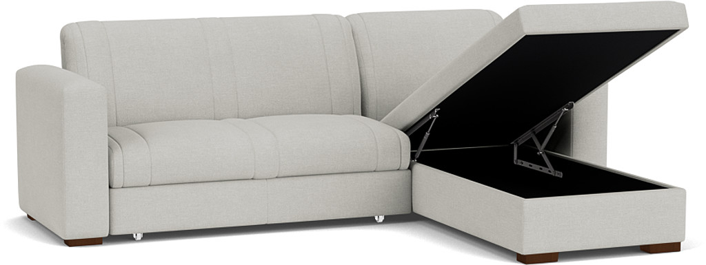 Product photograph showing Launceston 3 Seater Storage Chaise Sofa Bed