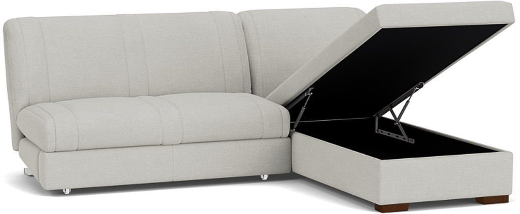 Product photograph showing Launceston 3 Seater Storage Chaise No Arms Sofa Bed