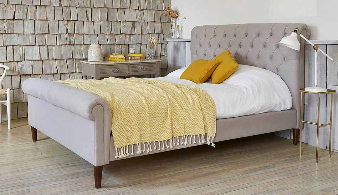 King Size Avoca in Stain Resistan Chenille Seal Grey