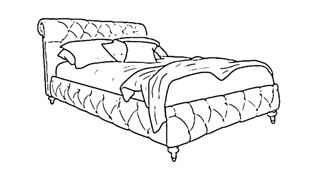 Product photograph showing Headly King Bed Low End