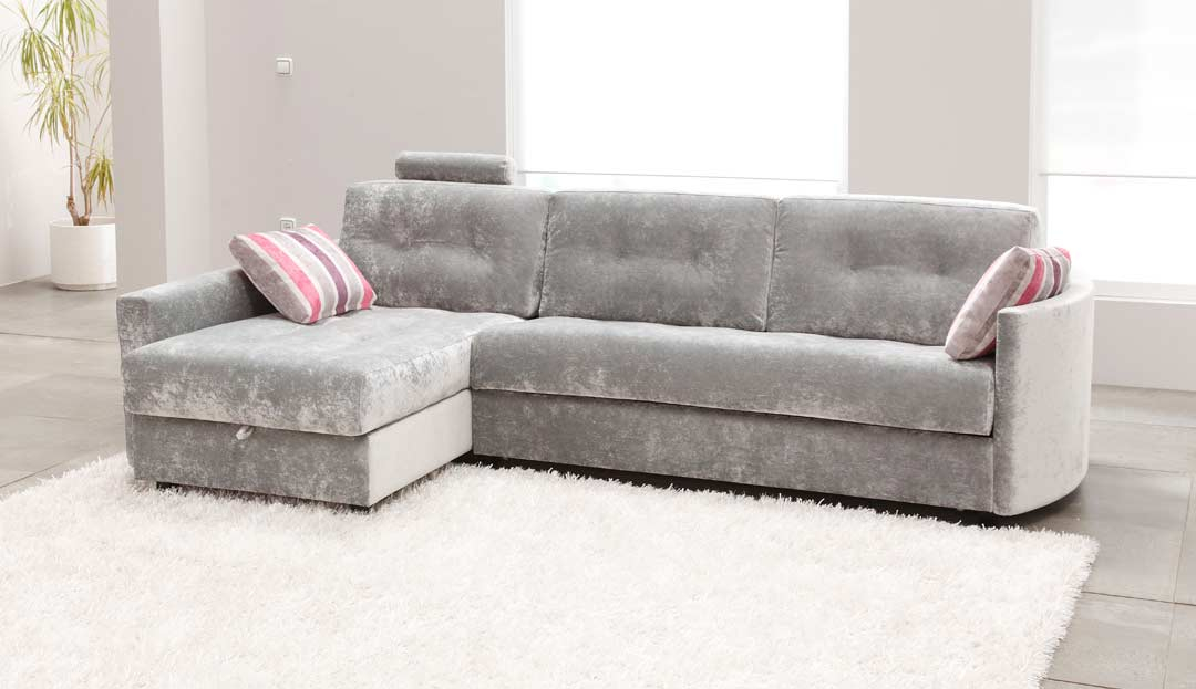 the alexi 4 seater sofa bed in stain resistant crushed velvet silver