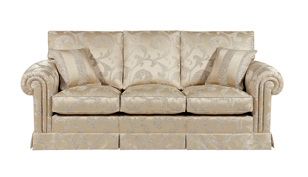 Product photograph showing Duresta Waldorf 3 Seater Sofa With 3 Cushions