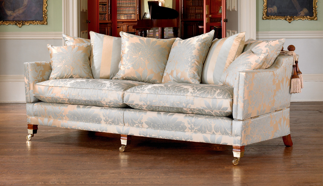 Product photograph showing Duresta Trafalgar Grand Sofa With Scatter Cushions