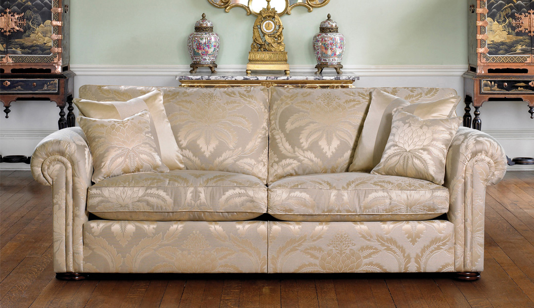 Product photograph showing Duresta Waldorf 3 Seater Sofa With 2 Cushions