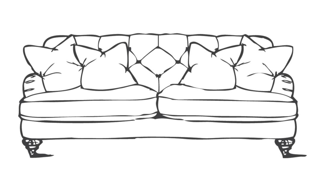 Product photograph showing Woodbridge Medium Sofa