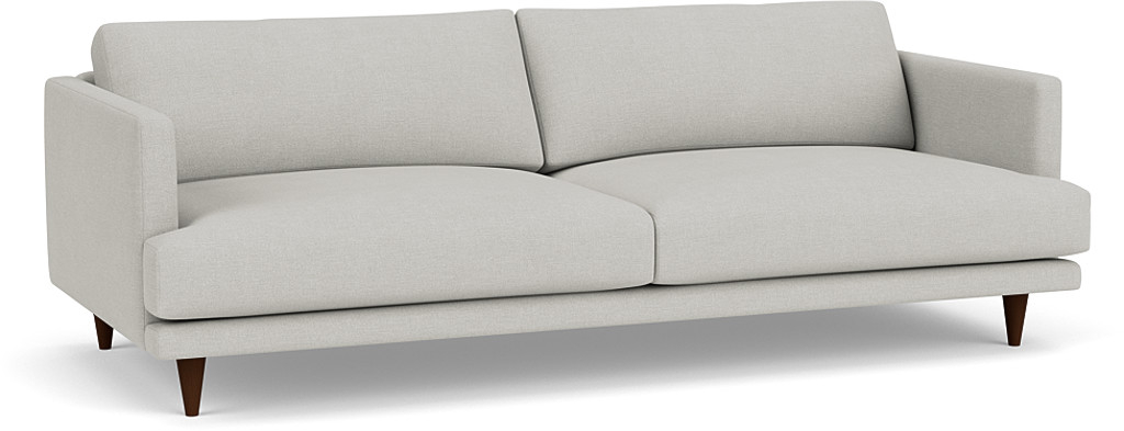 the middleton grand sofa in easy clean soft as cotton cambridge blue with dark oak feet