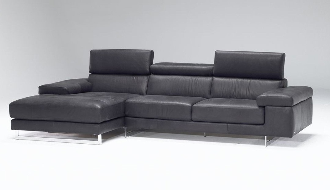 Product photograph showing Milano Fabric Chaise Sofa With Left Hand Chaise End 19 47