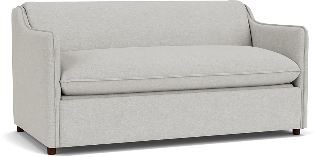the norbury 3.5 seater sofa in easy clean soft as cotton cambridge blue with dark oak feet