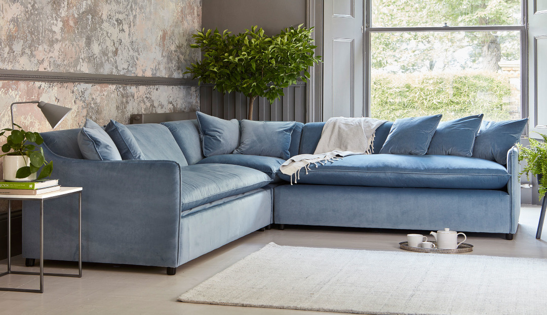Product photograph showing Norbury 2 X 2 Seater Corner Sofa