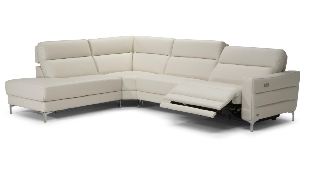 Orlando Corner Chaise Sofa with Electric Recliners - Left