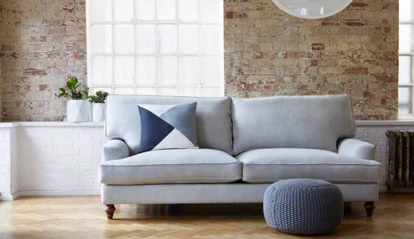 the whinfell large sofa in washed linen sea spray with medium oak feet