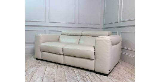Fernando 2 Seater Sofa with Electric Recliners in 20JJ Italian Leather