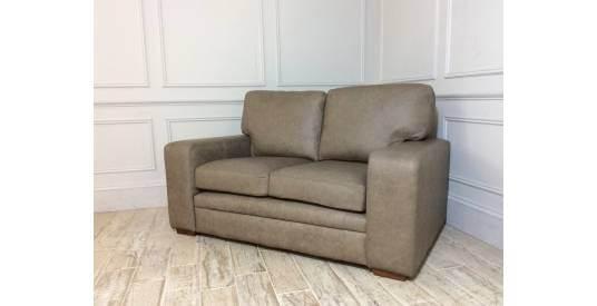 Sloane 2 Seater Leather Sofa in Gravel