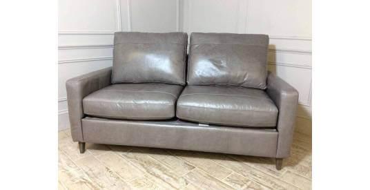 Beckenham 3 Seater Leather Sofa Bed in Slate