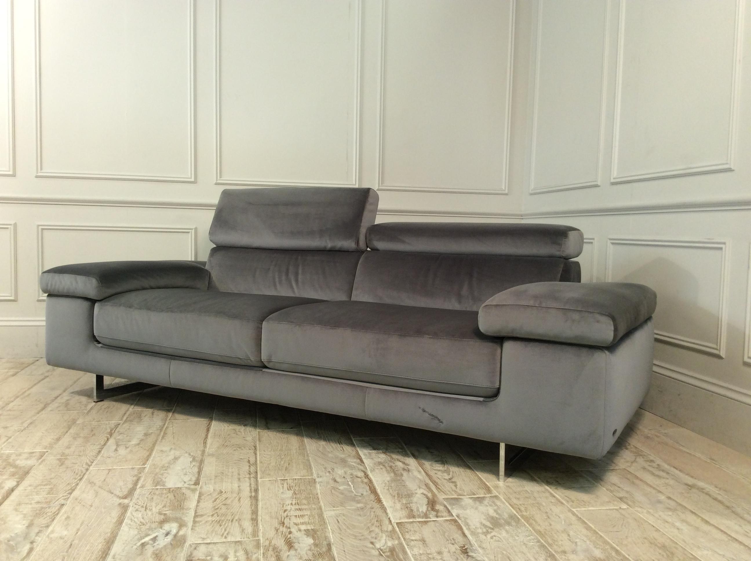 Milano Large Fabric Sofa in Brezza 03