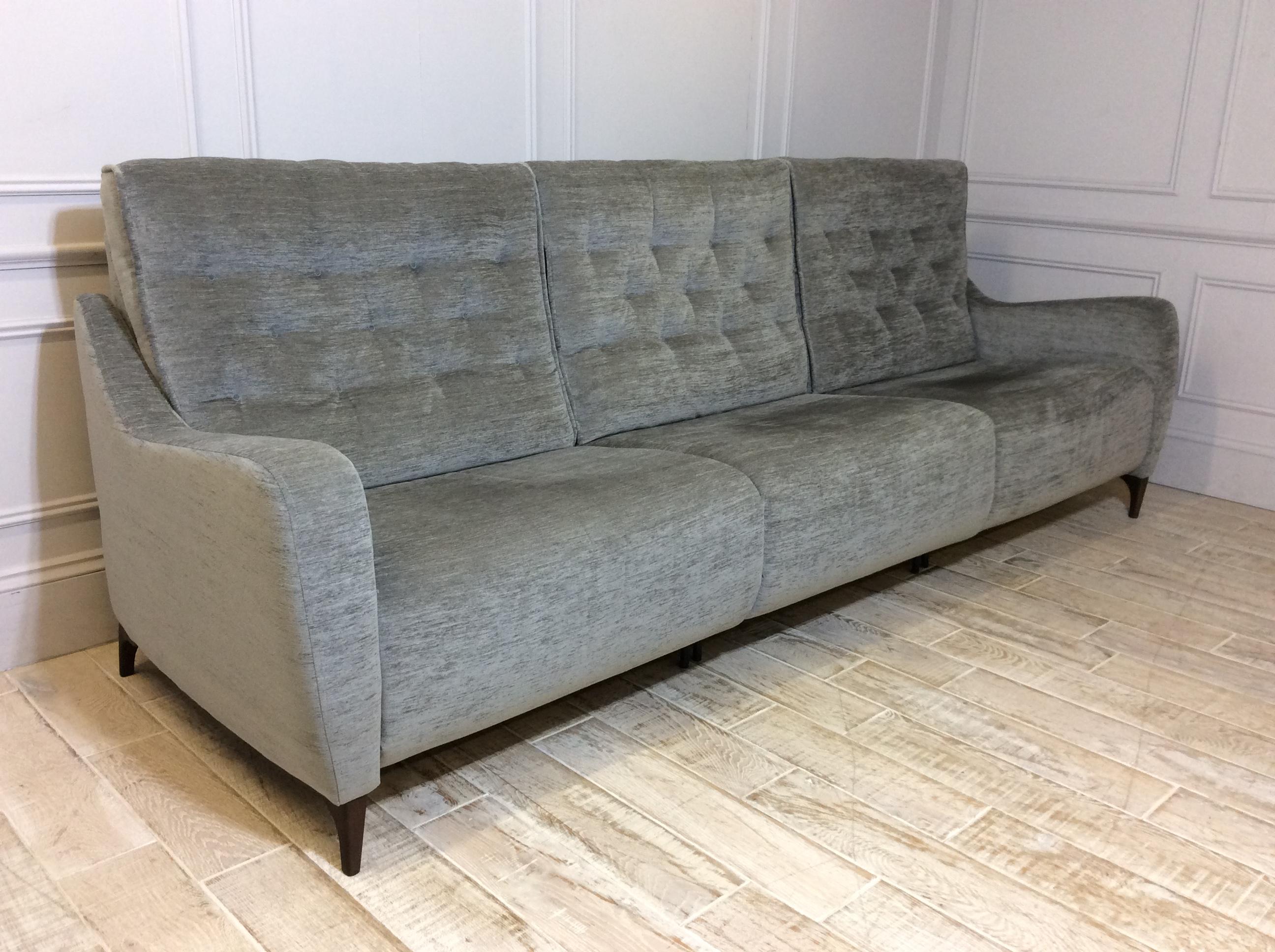 Hugo Extra Large Reclining Sofa in Pascal Grey