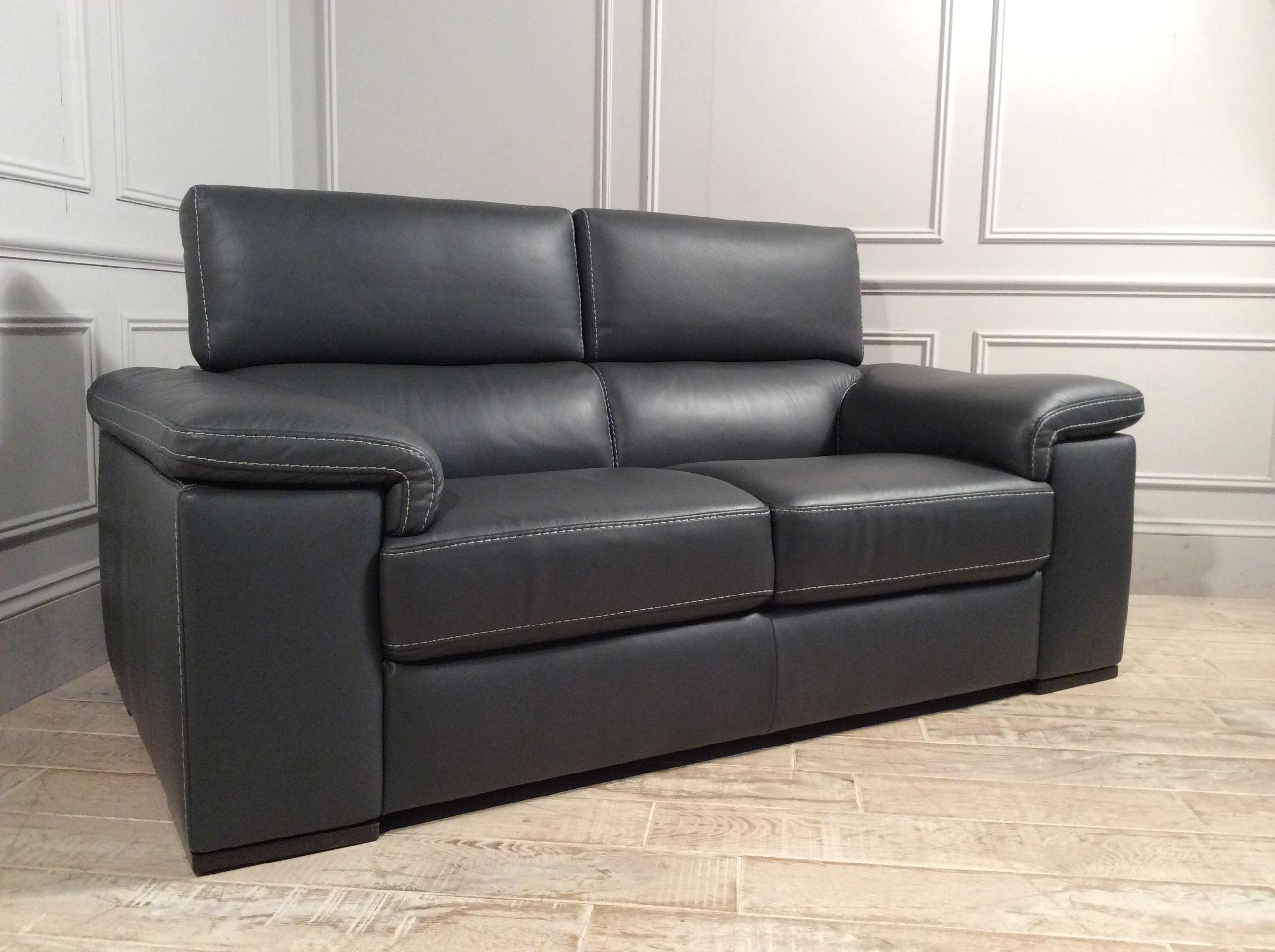 Fabio 2 Seater Leather Sofa in 15D7