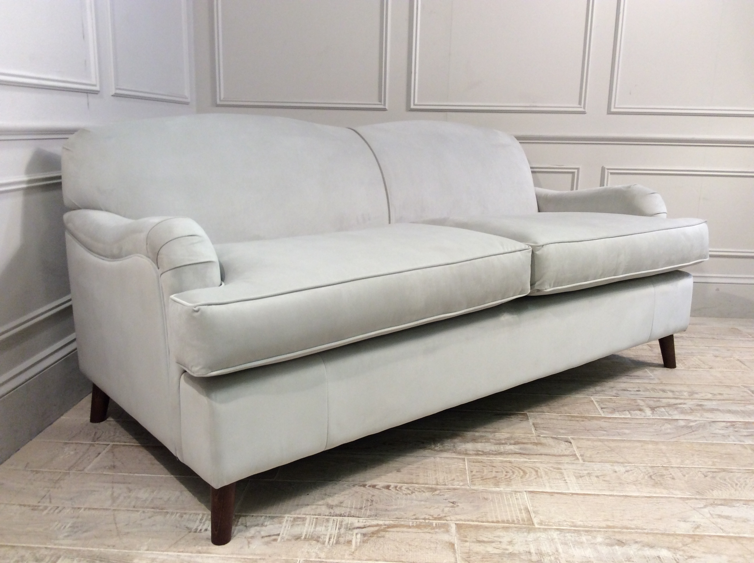 Product photograph showing Lincoln 3 5 Seater Fabric Sofa In Twilight