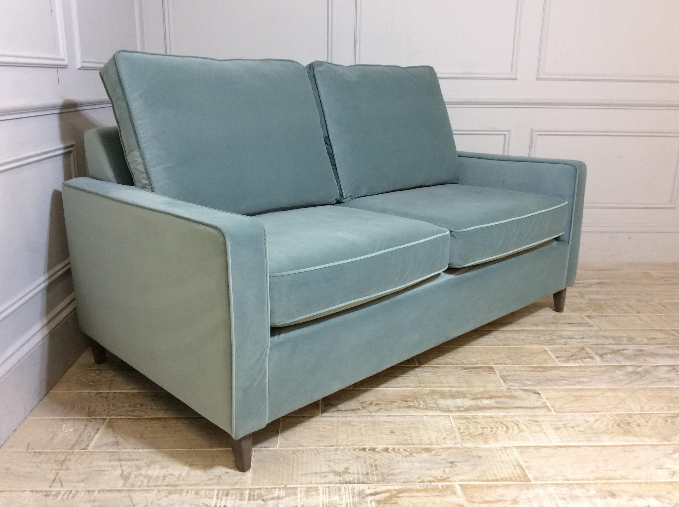 Beckenham 3 Seater Sofa Bed in Easy Clean Plush Velvet Airforce