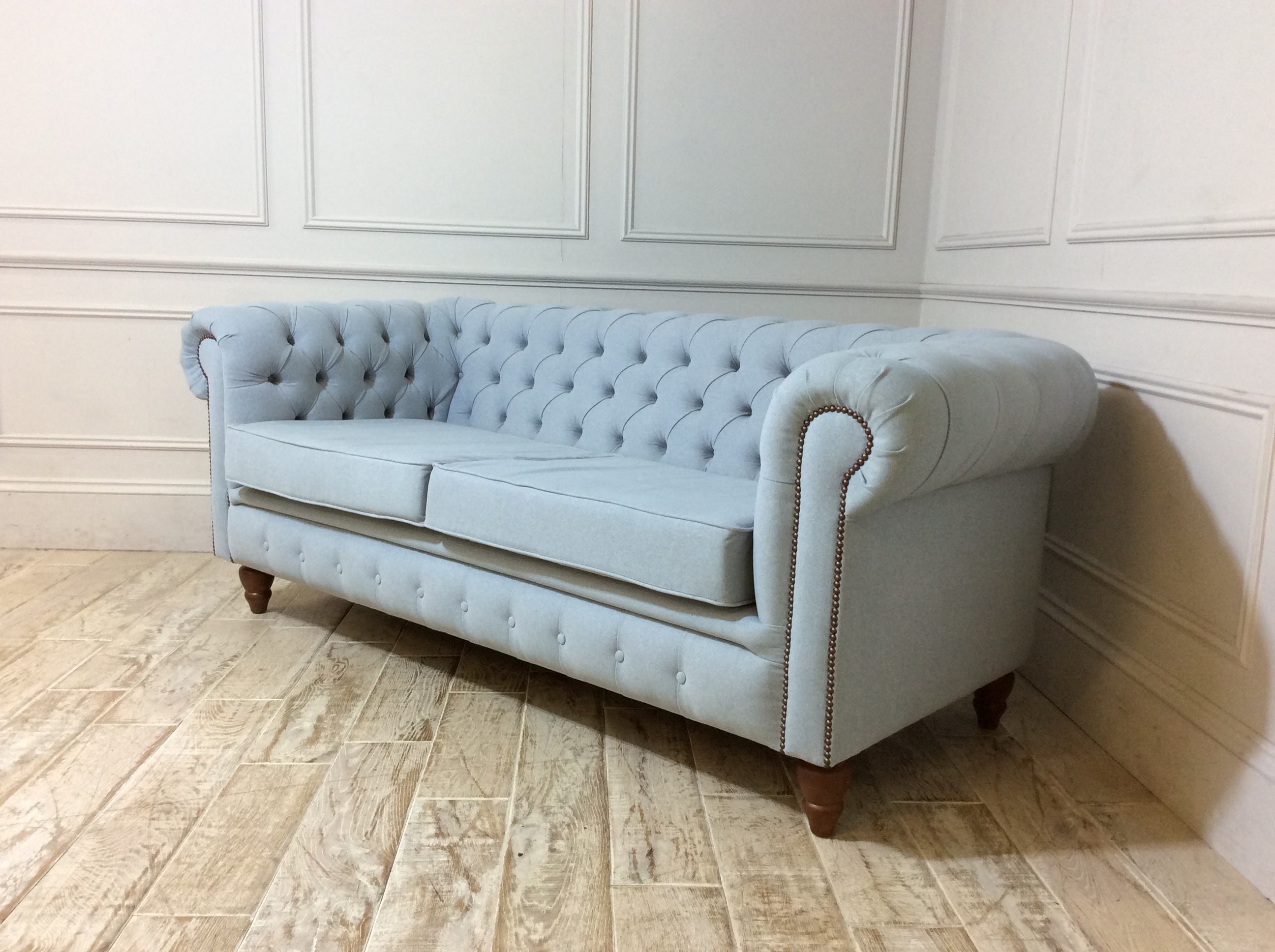 Harrington 3 Seater Sofa in Stain Resistant House Wool Dew