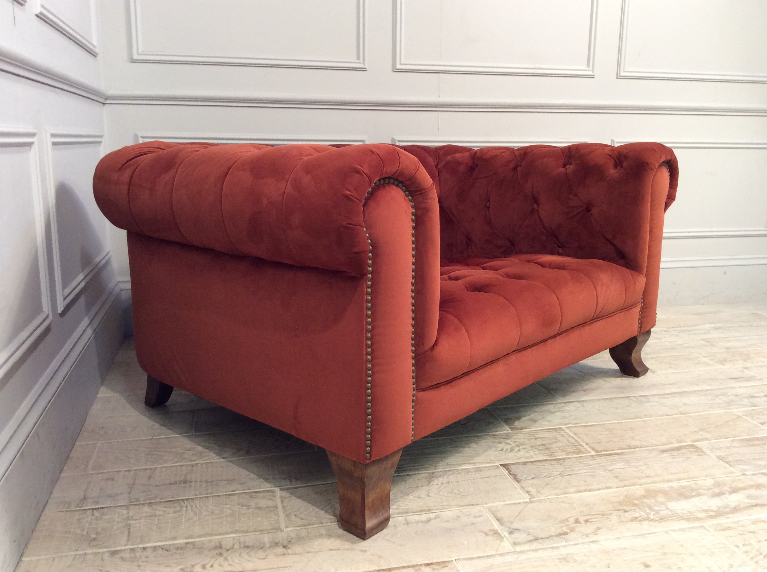 Product photograph showing Arundel Snuggler In Plush Marmalade Fabric