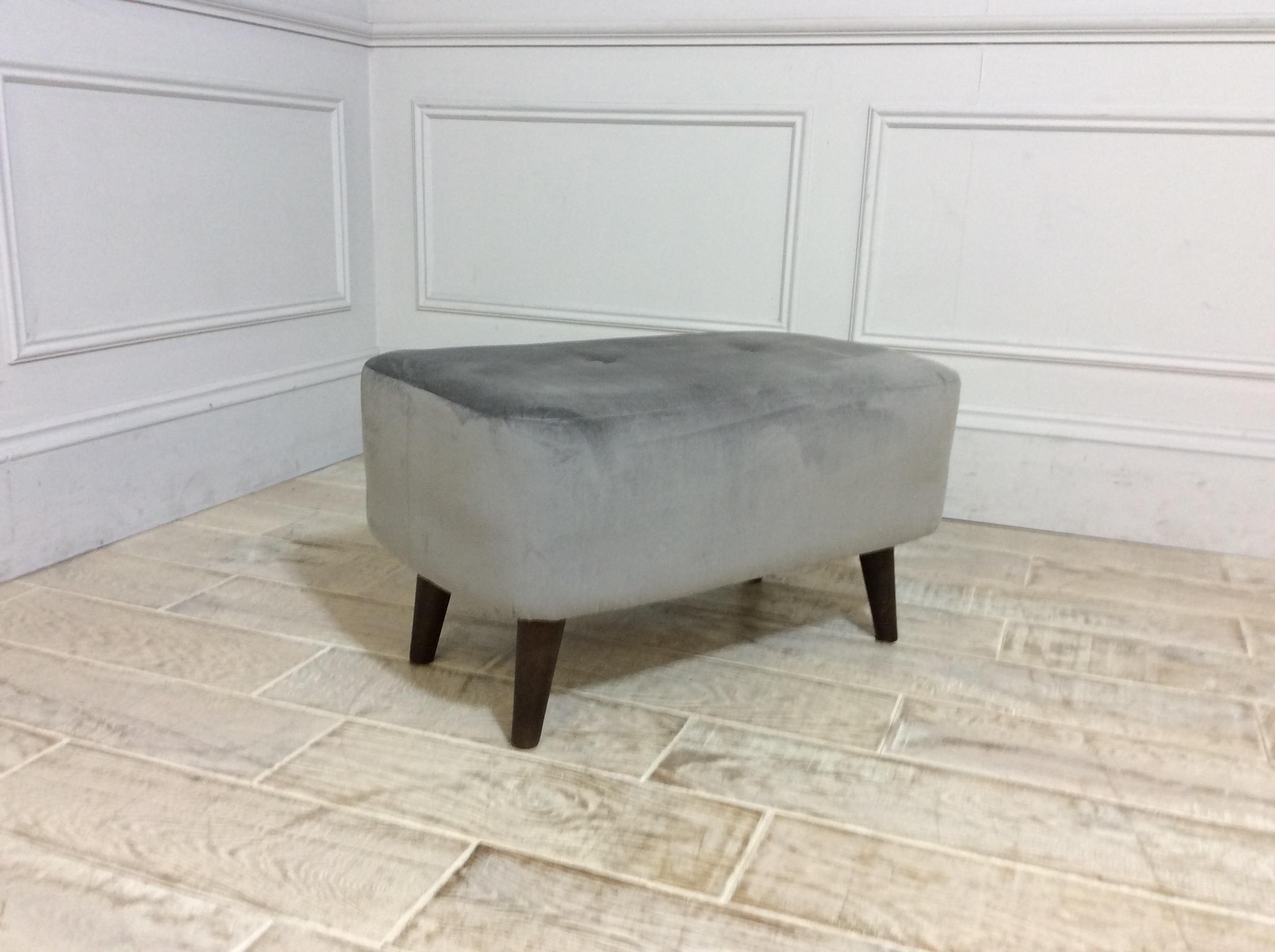 Studio Small Bench Stool in Velvet Slate