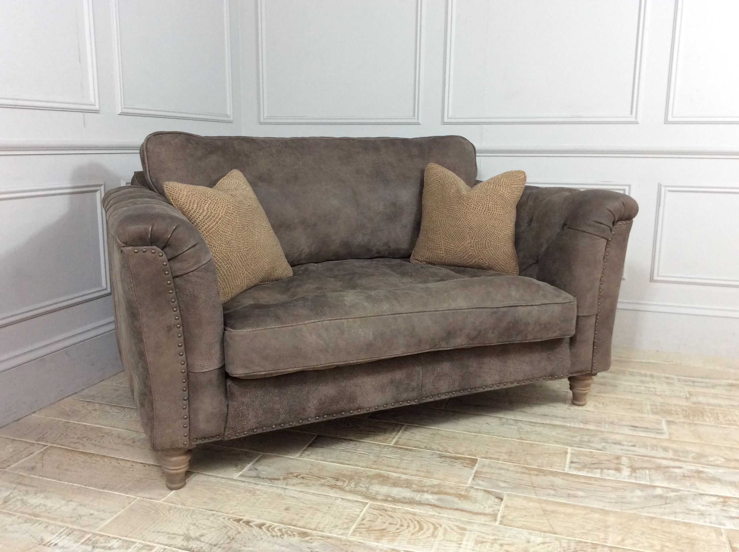 Dorset Loveseat Sofa in Buffed Elephant