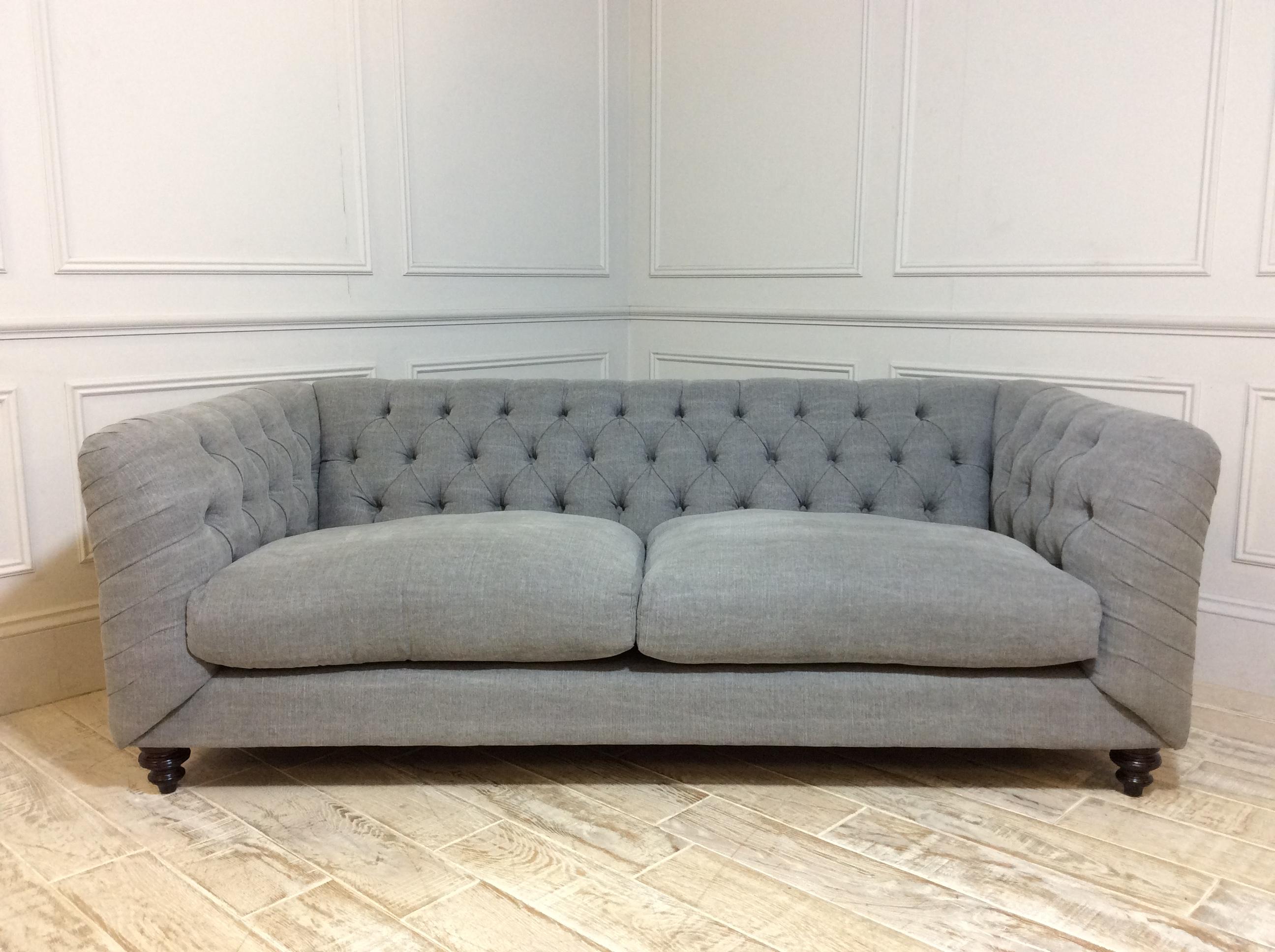 Dulwich Midi Fabric Sofa in Linen Mix Pigeon