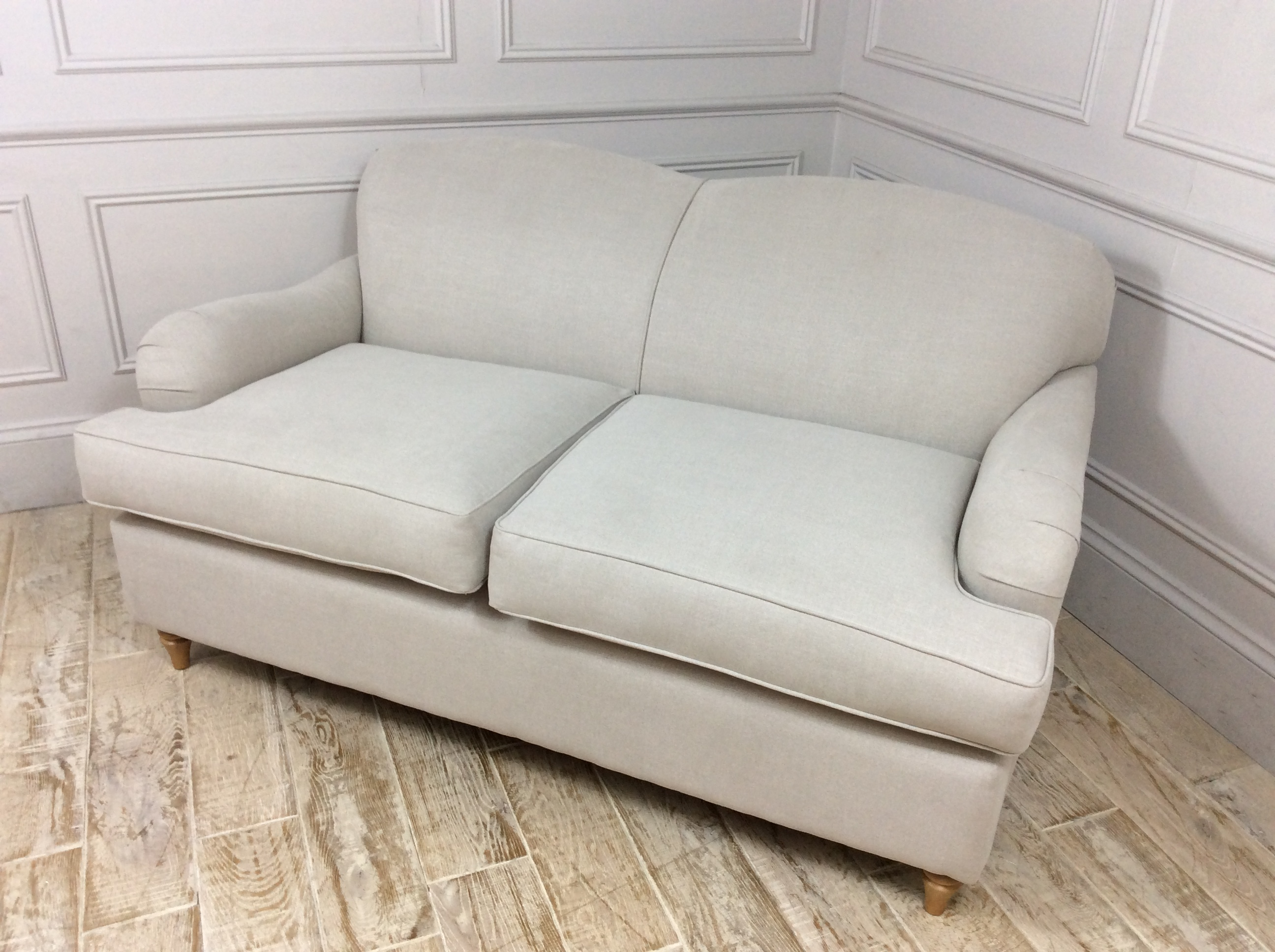 Lincoln 2 Seater Sofa in Easy Clean Soft as Cotton Mohair