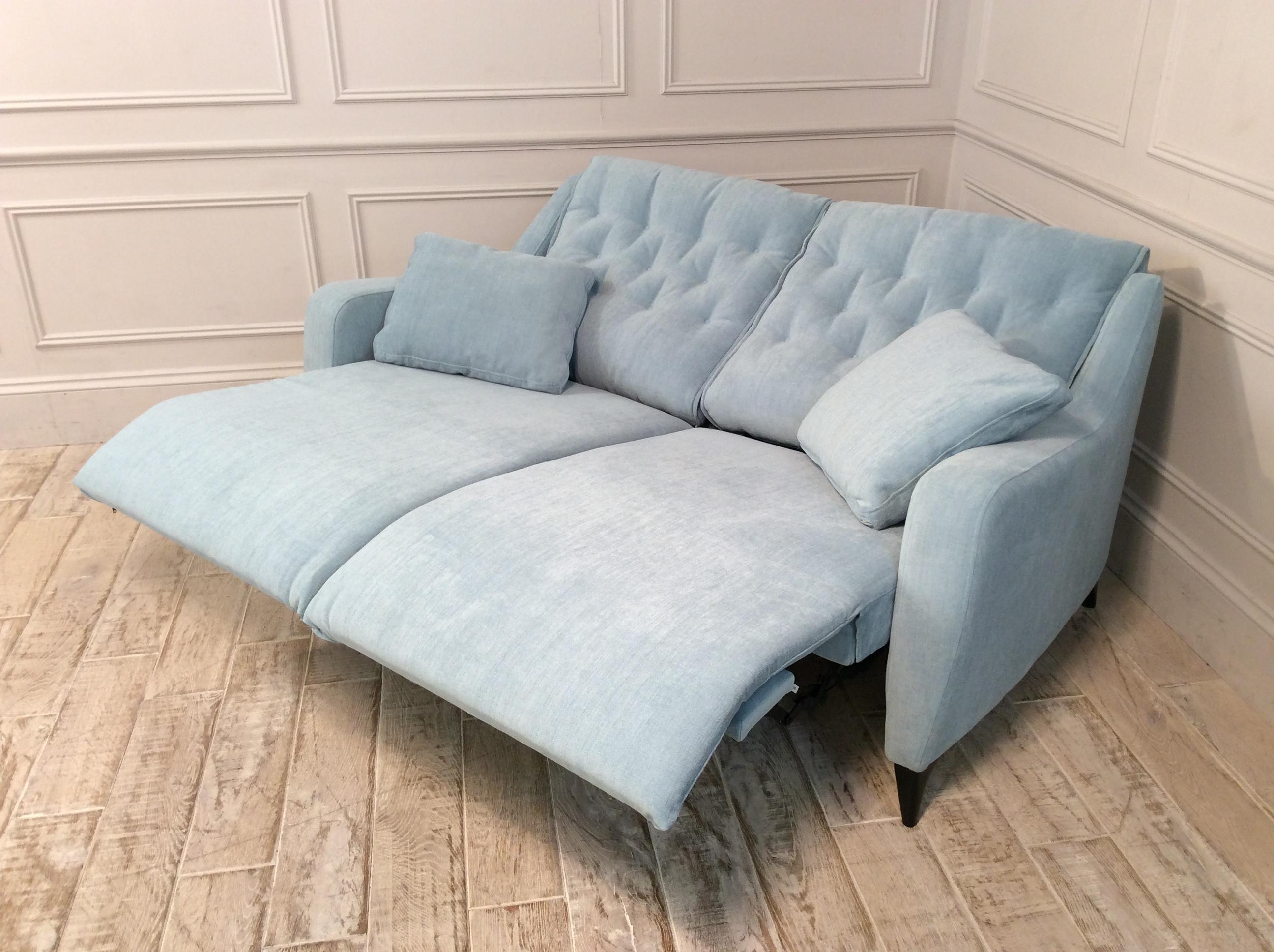 Hugo Medium Reclining Fabric Sofa in Club 49