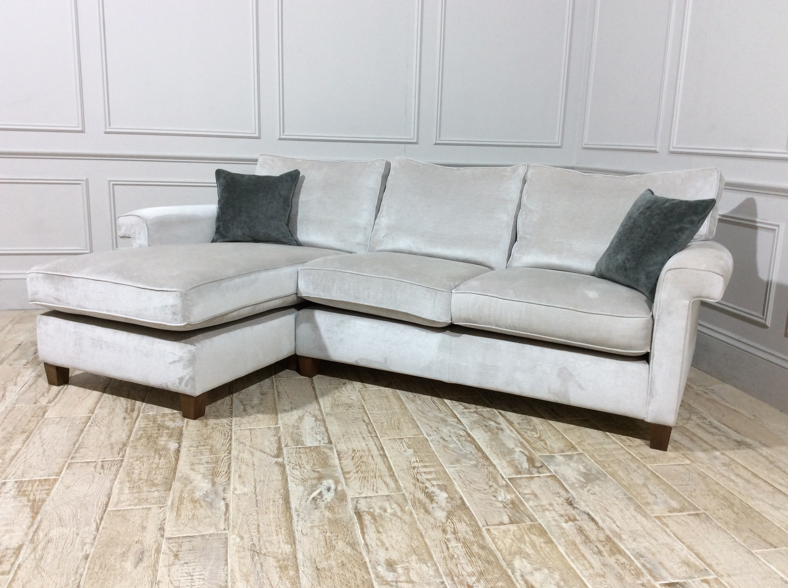 Duresta Haywood Chaise Sofa in Dolce Magnesium