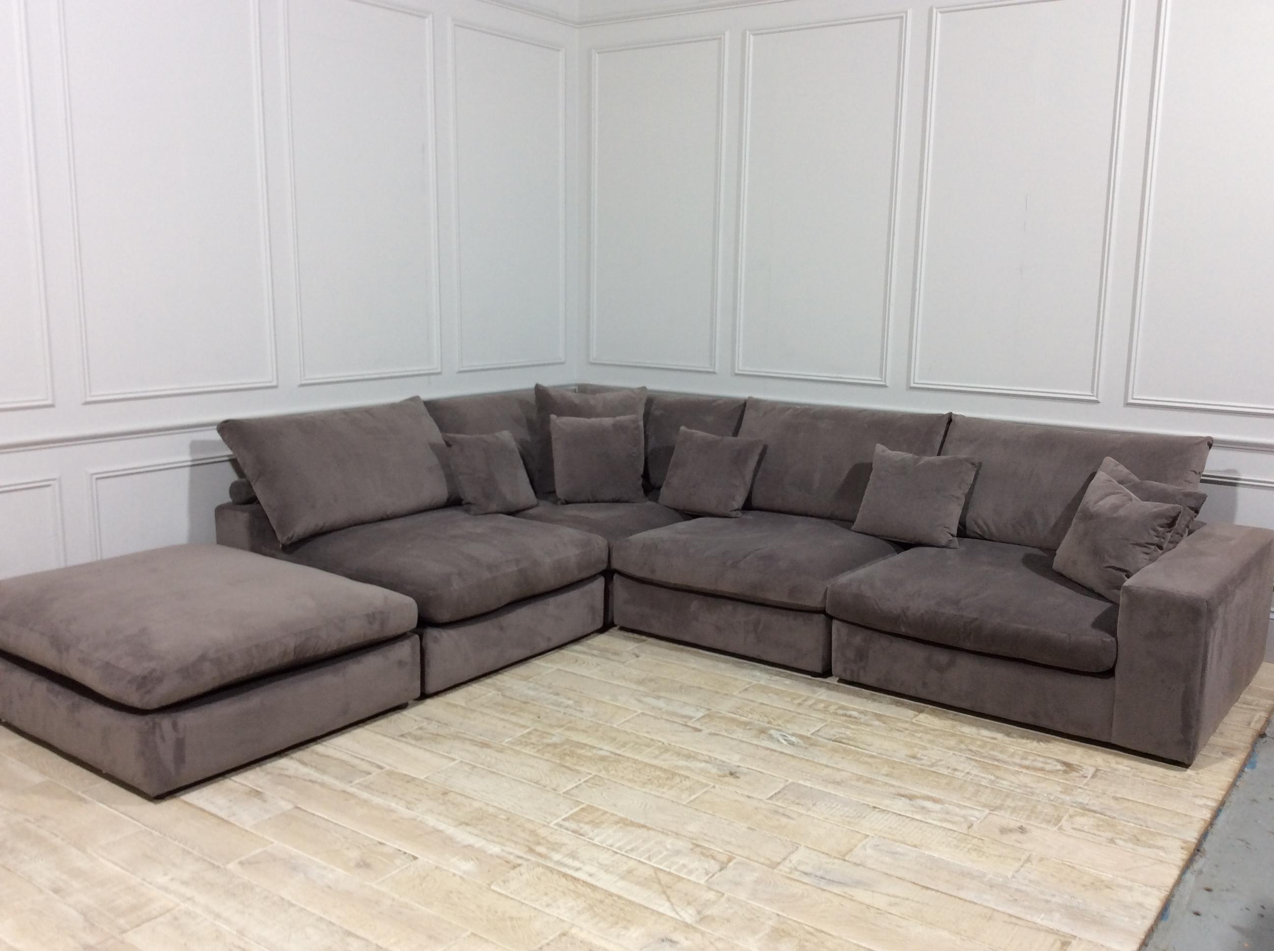 Haymarket Extra Deep Large Corner Sofa in Easy Clean Plush Velvet Liver