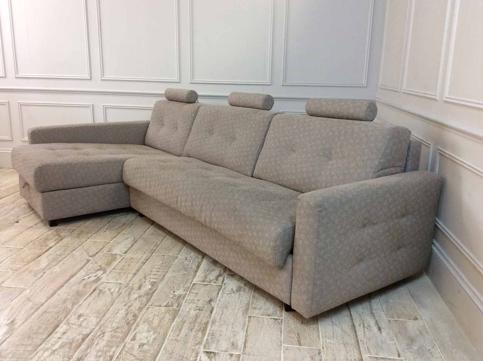 Alexi 4 Seater Sofa With Left Hand Storage Chaise And Straight Arms in Houston Weaves - Houston 248