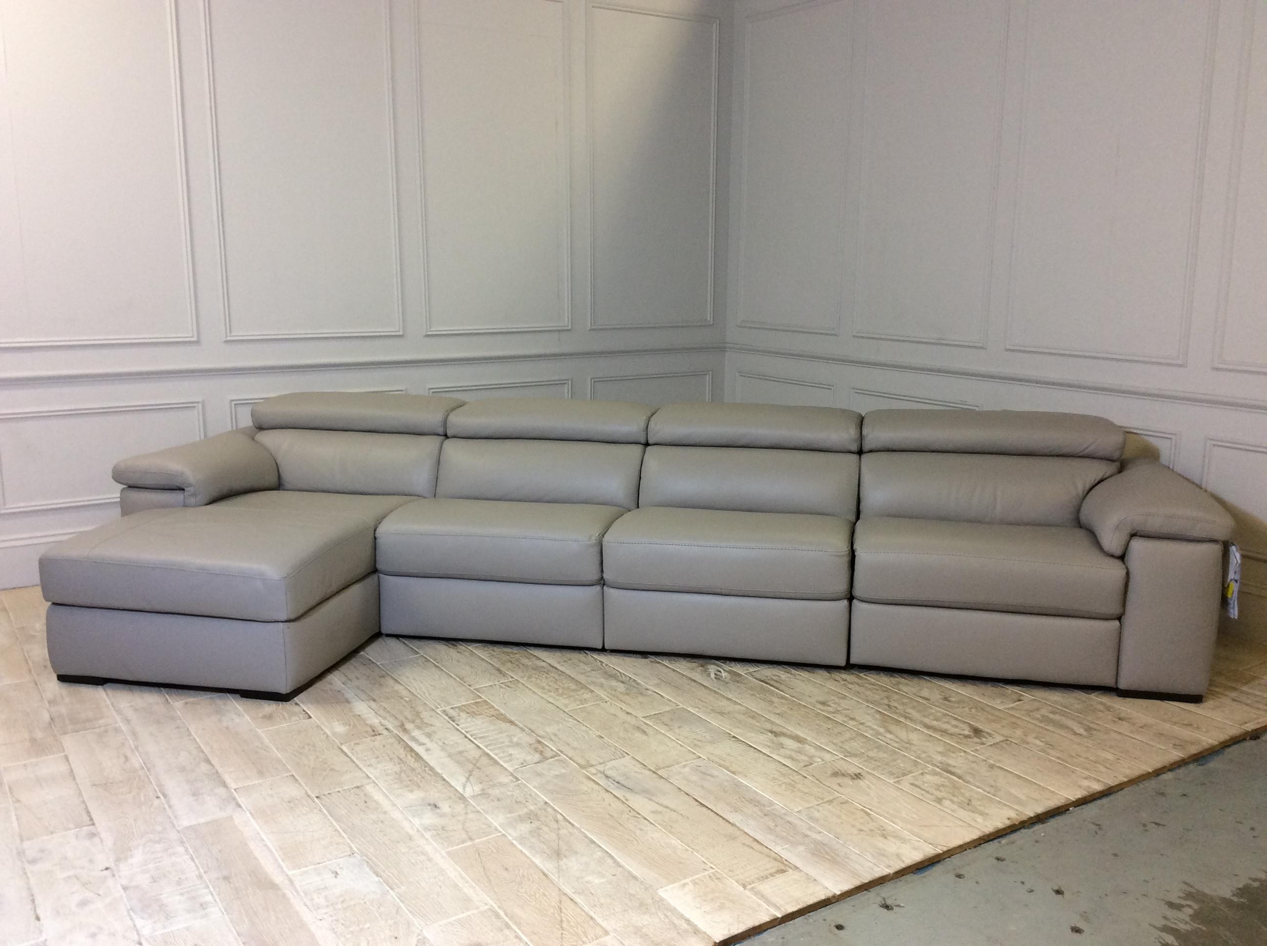 Fabio Chaise Corner Sofa in Italia Top Grade Leather 20JK