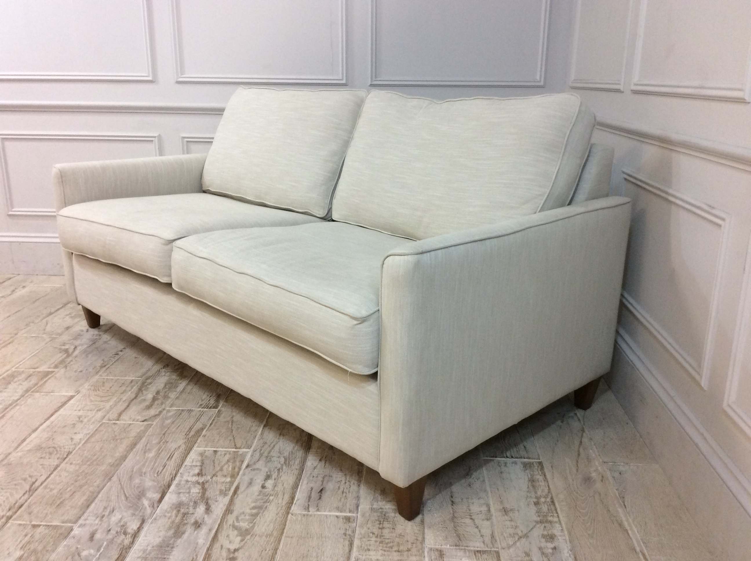 Product photograph showing Hayes 3 5 Seater Sofa Bed In Cotton Linen