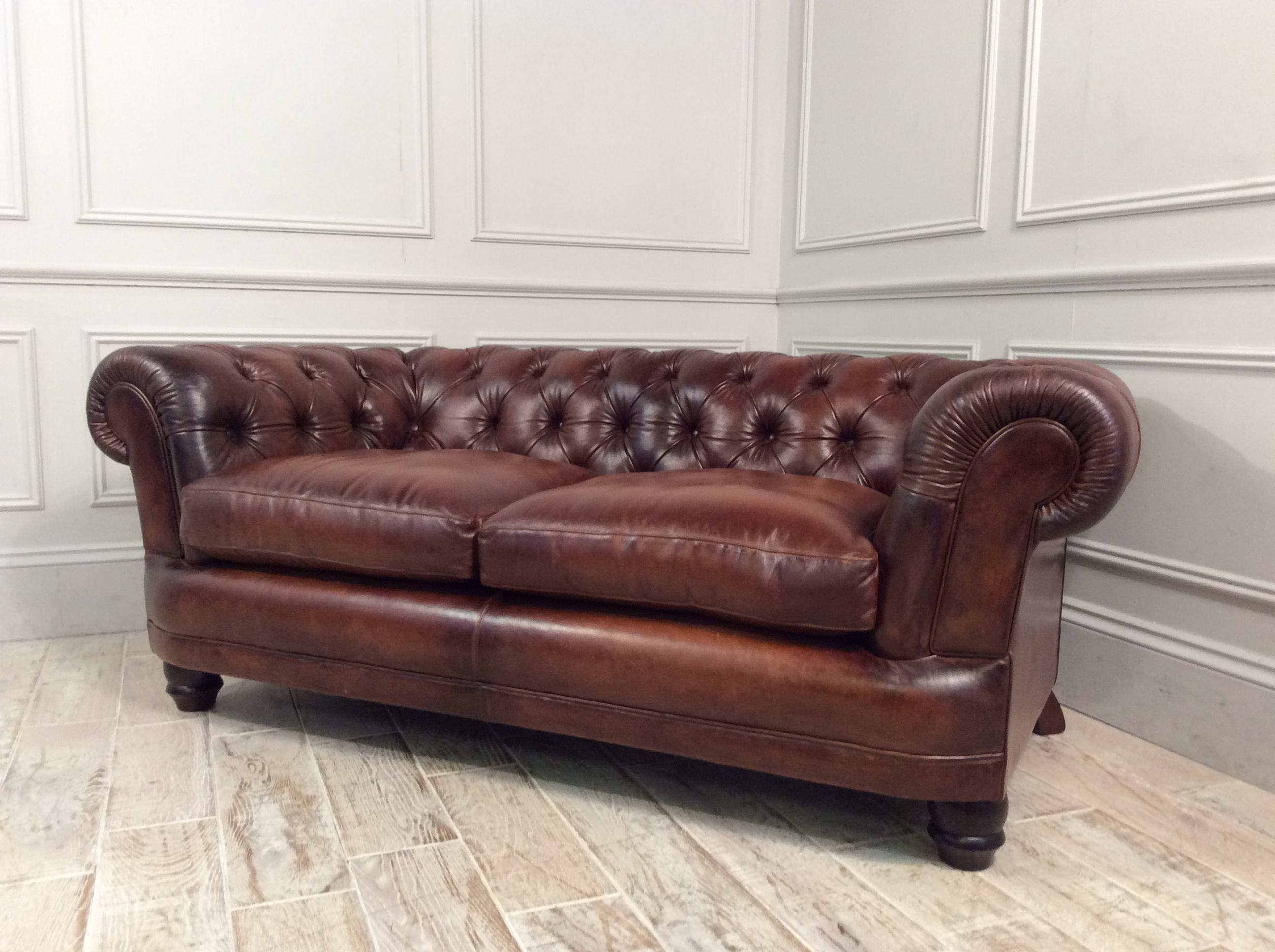 Cairness Midi Sofa in Hand Antiqued Leather