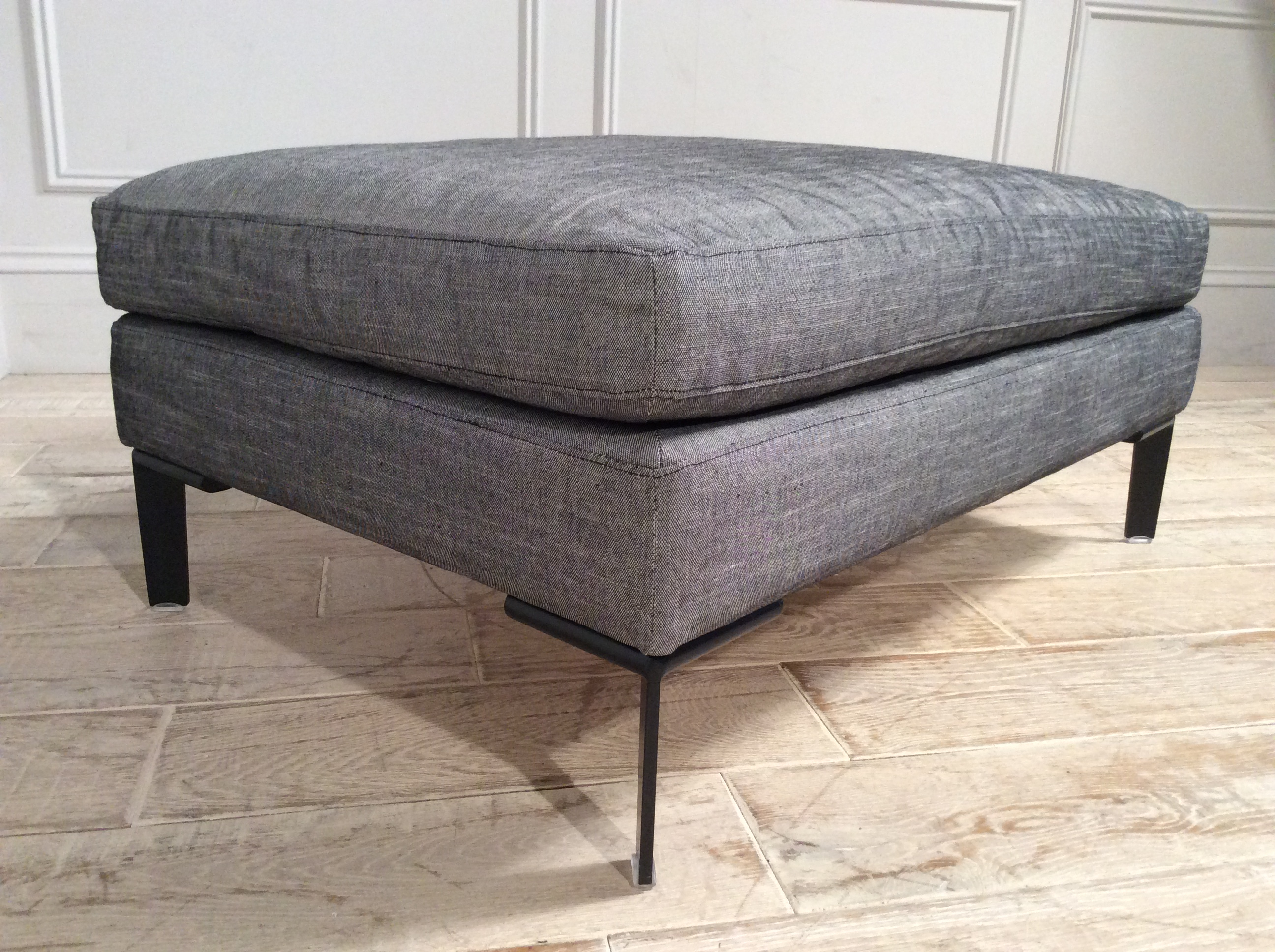 Product photograph showing Domus Soho Small Footstool In Carbon